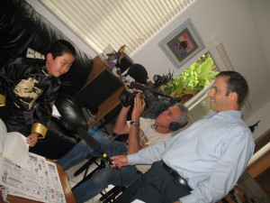 Perry interviewed LIVE at home by Steve Price of CBS 8 on May 31, 2009