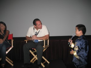 Perry Chen interviewing director Howie Snyder of My Beijing Birthday@ San Diego Asian Film Festival