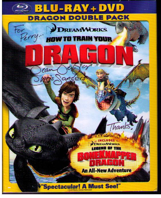 How to train your dragon directors sent autographed blu ray dvd to dragon directors autographed dvd ccuart Images
