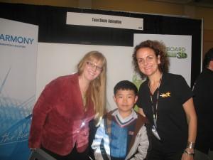 Perry Chen & Toom Boom's Lily Vogelesang & Karina Bessoudo (photo by Zhu Shen)