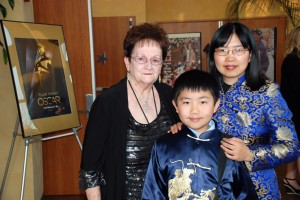 2-26-12 Perry Chen & Zhu Shen with Beth Huss at Oscar Night America -San Diego