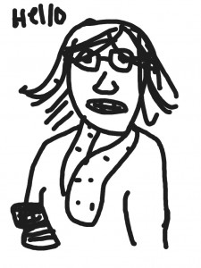 "Perry Chen's drawing of Dani Bowman with ""Doodle Buddy"" app on iPad"