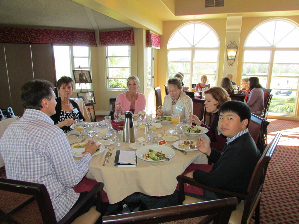 Perry Chen enjoying lunch at Wednesday Etc. Women's Club (by Zhu Shen)