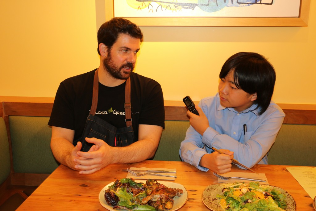 Perry interviewing chef Jeff Hubbard best