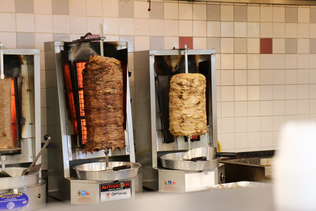 Roasted meat for Gyros (photo by Perry Chen)