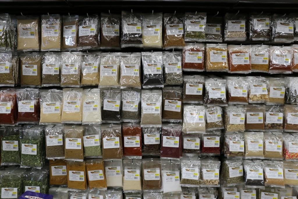Spices at Harvest International Market (photo by Zhu Shen)