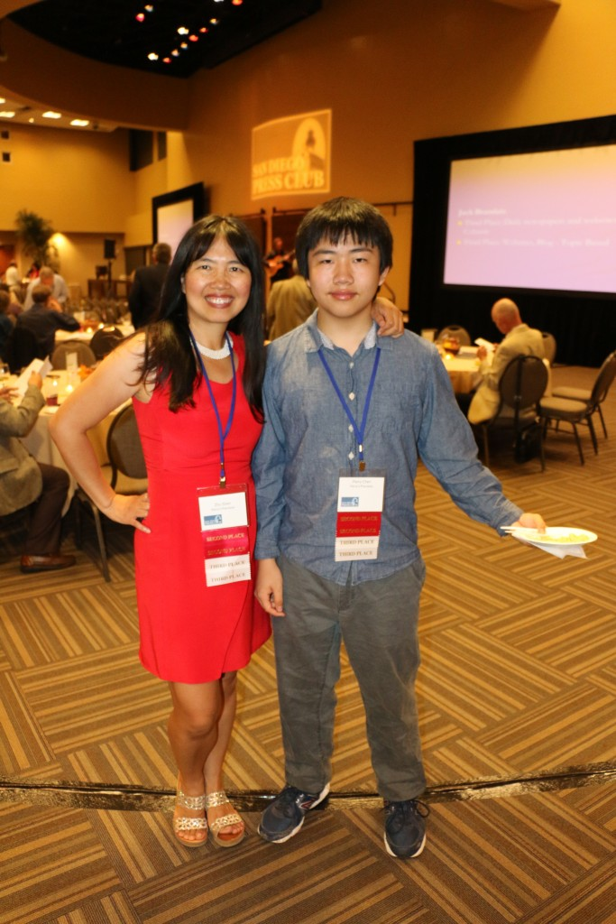 Perry Chen & Zhu Shen at 2015 San Diego Press Club Awards