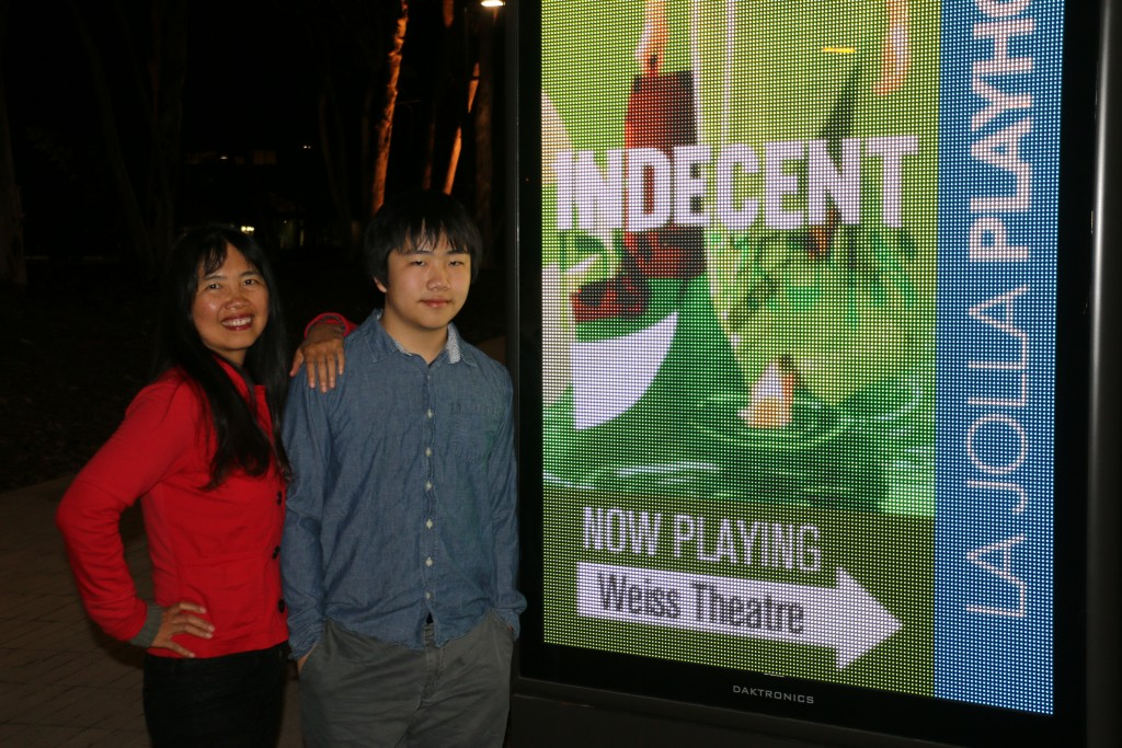 "Perry Chen with mom/Producer Zhu Shen at ""Incedent"" La Jolla Playhouse premiere (photo by Richard Nesdale)"