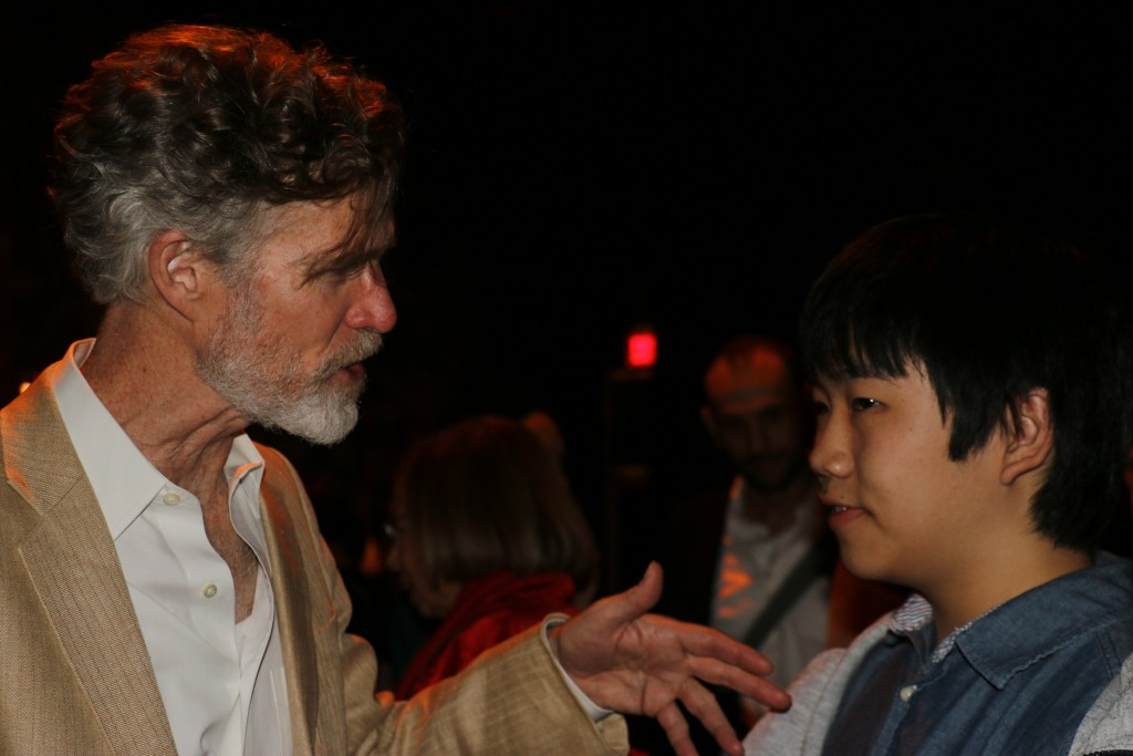 11-18-15 Perry talking to actor Nelis at reception 2