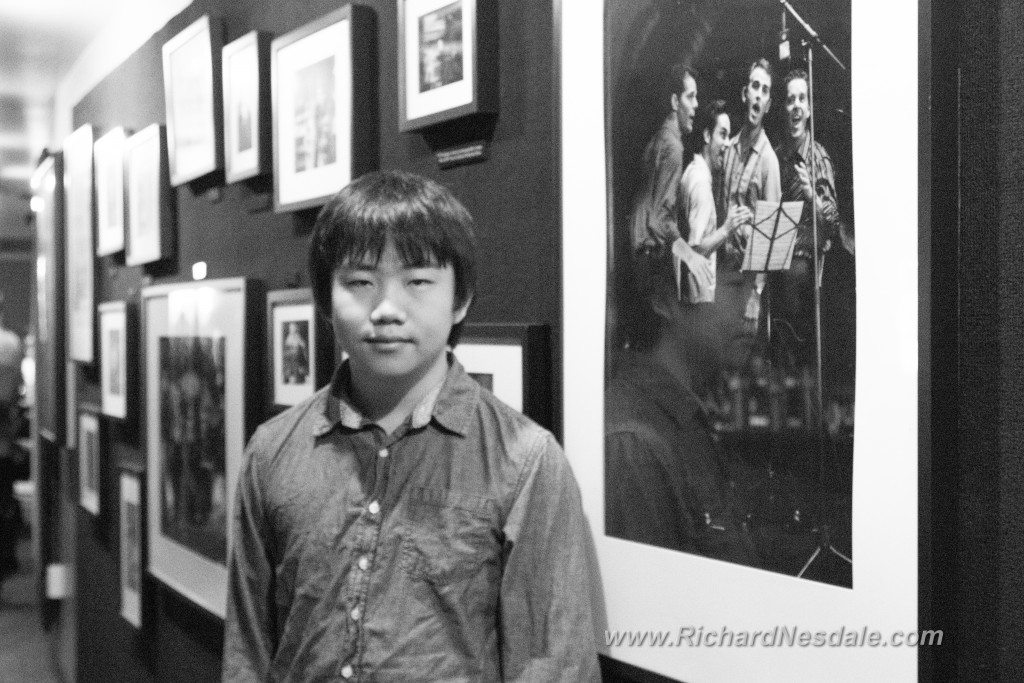 Perry Chen at La Jolla Playhouse lobby (photo by Richard Nesdale)