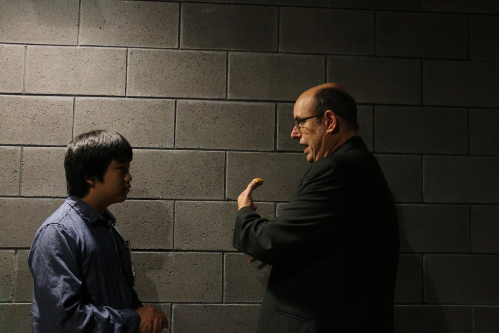 Perry Chen interviewing Christopher Ashley La Jolla Playhouse artistic director (photo by Zhu Shen)