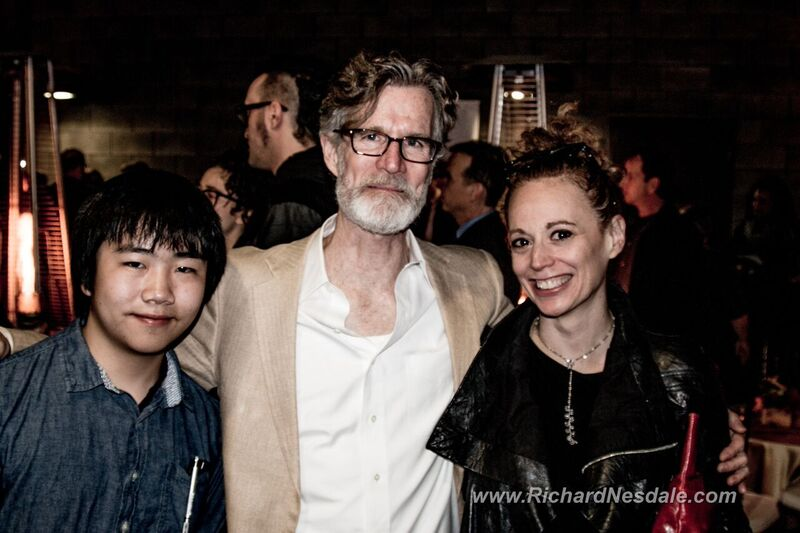 "Perry Chen with actor Tom Nelis & director Rebecca Taichman at ""Indecent"" premiere (photo by Richard Nesdale)"