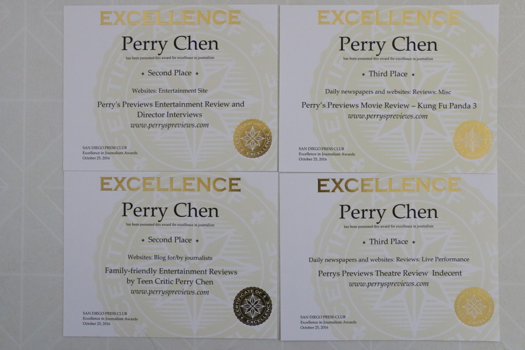 Perry Chen's four 2016 San Diego Press Club Excellence in Journalism Awards